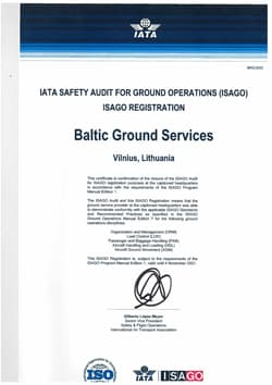 IATA Safety Audit for Ground Operations (ISAGO) registration